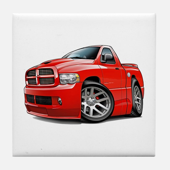 SRT10 Red Truck Tile Coaster