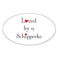 Loved by a Schipperke Oval Decal