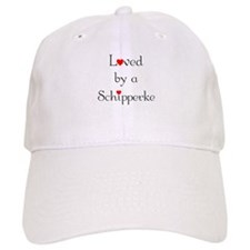 Loved by a Schipperke Baseball Cap