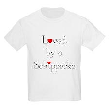 Loved by a Schipperke Kids T-Shirt