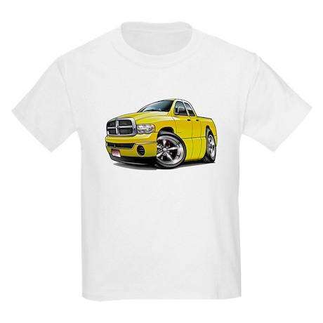 Dodge Ram Yellow Dual Cab Kids Light T-Shirt