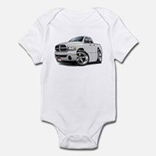 Dodge Ram White Dual Cab Infant Bodysuit