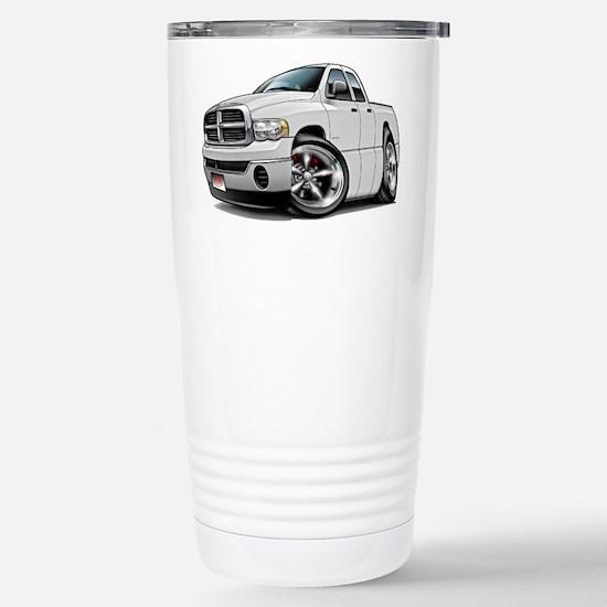 Dodge Ram White Dual Cab Stainless Steel Travel Mu