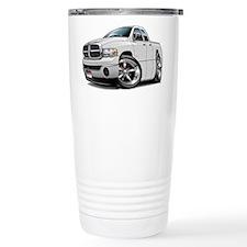 Dodge Ram White Dual Cab Travel Mug