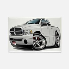 Dodge Ram White Dual Cab Rectangle Magnet