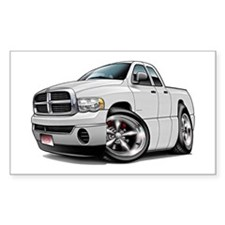 Dodge Ram White Dual Cab Rectangle Decal