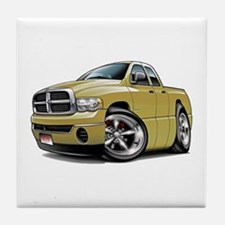 Dodge Ram Tan Dual Cab Tile Coaster