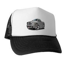 Dodge Ram Silver Dual Cab Trucker Hat