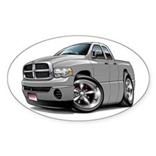 Dodge Ram Silver Dual Cab Oval Decal
