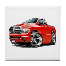 Dodge Ram Red Dual Cab Tile Coaster