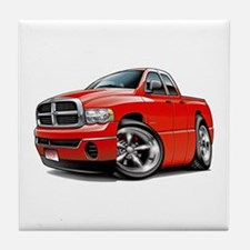 Dodge Ram Red Dual Cab Tile Coaster