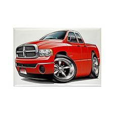 Dodge Ram Red Dual Cab Rectangle Magnet