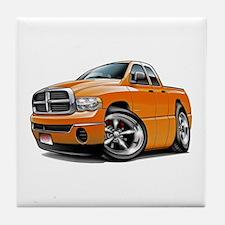 Dodge Ram Orange Dual Cab Tile Coaster