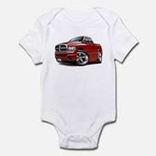 Dodge Ram Maroon Dual Cab Infant Bodysuit