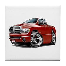 Dodge Ram Maroon Dual Cab Tile Coaster