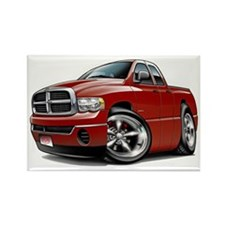 Dodge Ram Maroon Dual Cab Rectangle Magnet