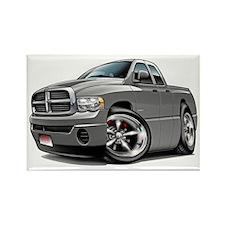 Dodge Ram Grey Dual Cab Rectangle Magnet
