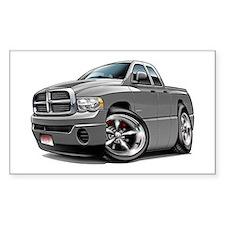 Dodge Ram Grey Dual Cab Rectangle Decal