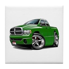 Dodge Ram Green Dual Cab Tile Coaster