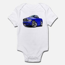 Dodge Ram Blue Dual Cab Infant Bodysuit