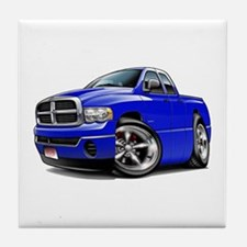 Dodge Ram Blue Dual Cab Tile Coaster