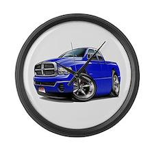 Dodge Ram Blue Dual Cab Large Wall Clock