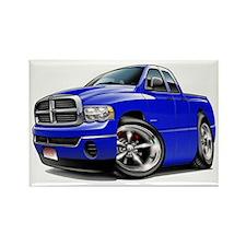 Dodge Ram Blue Dual Cab Rectangle Magnet