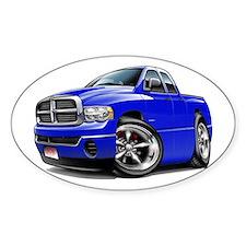 Dodge Ram Blue Dual Cab Oval Decal