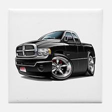 Dodge Ram Black Dual Cab Tile Coaster