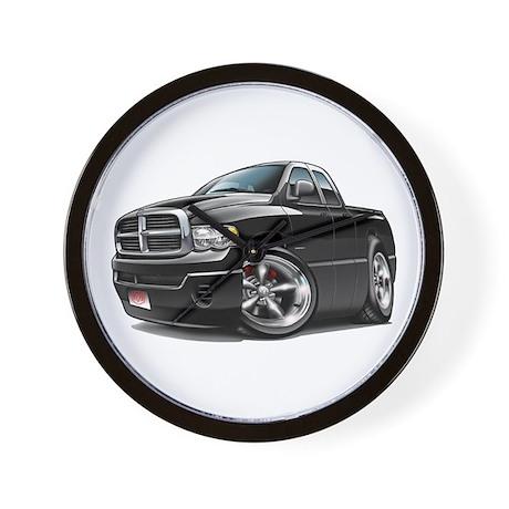 Dodge Ram Black Dual Cab Wall Clock