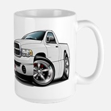 Dodge Ram White Truck Mug