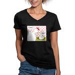 S'Awright! Women's V-Neck Dark T-Shirt