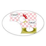 S'Awright! Oval Sticker (10 pk)