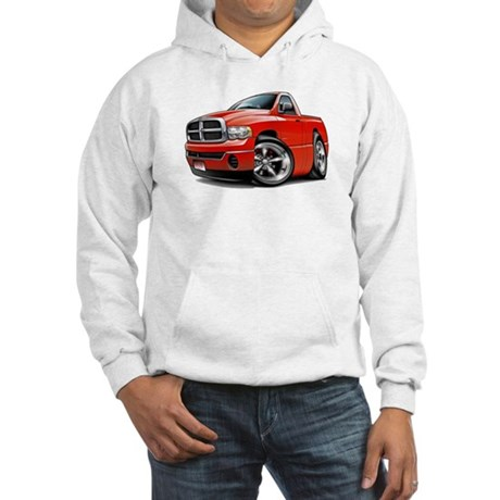 Dodge Ram Red Truck Hooded Sweatshirt
