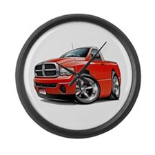 Dodge Ram Red Truck Large Wall Clock