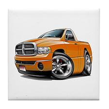 Dodge Ram Orange Truck Tile Coaster