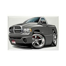 Dodge Ram Grey Truck Rectangle Magnet