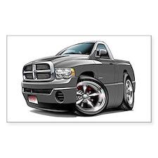 Dodge Ram Grey Truck Rectangle Decal