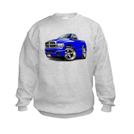 Dodge Ram Blue Truck Kids Sweatshirt