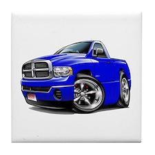Dodge Ram Blue Truck Tile Coaster
