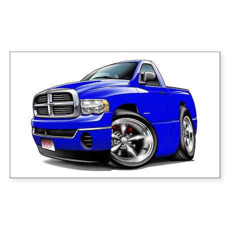 Dodge Ram Blue Truck Rectangle Sticker
