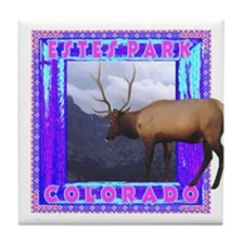 Estes Park Colorado Elk Tile Coaster