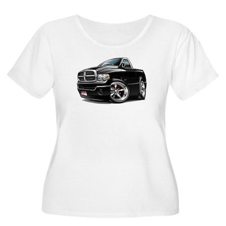 Dodge Ram Black Truck Women's Plus Size Scoop Neck