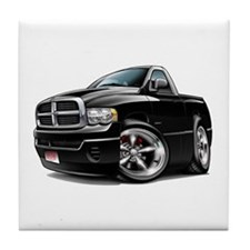 Dodge Ram Black Truck Tile Coaster