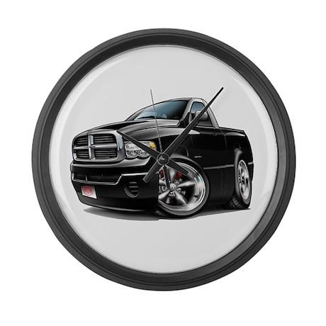 Dodge Ram Black Truck Large Wall Clock