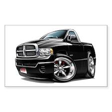 Dodge Ram Black Truck Rectangle Decal