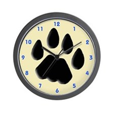 Cat Track Feline Wall Clock
