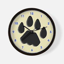 Cat Track Feline Wall Clock