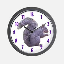 Gray Squirrel Wall Clock