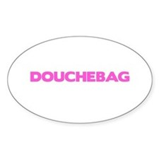 Douchebag Oval Decal